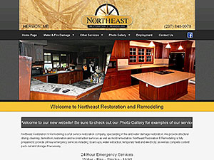 Northeast Restoration and Remodeling Website Thumbnail
